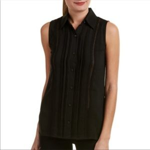 Cabi | Jagger Black Lace Sleeveless Top